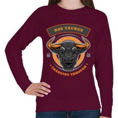 PRINTFASHION Taurus - Női pulóver - Bordó
