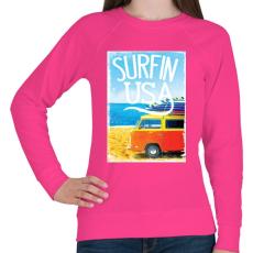 PRINTFASHION Amerikai szörfös - Női pulóver - Fukszia