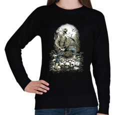PRINTFASHION Bányászhalál - Női pulóver - Fekete