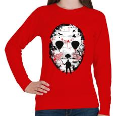 PRINTFASHION Kristálytó  - Női pulóver - Piros