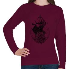 PRINTFASHION Szent szarvas  - Női pulóver - Bordó