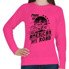 PRINTFASHION Amerika büszkesége  - Női pulóver - Fukszia