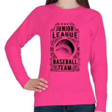 PRINTFASHION Baseball csapat  - Női pulóver - Fukszia