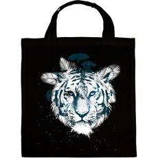 PRINTFASHION White tiger - Vászontáska - Fekete
