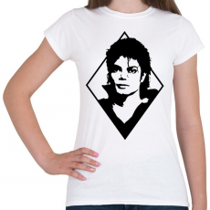 PRINTFASHION Michael Jackson - Női póló - Fehér