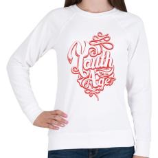 PRINTFASHION Fiatalságnak nincs kora - Női pulóver - Fehér