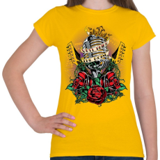 PRINTFASHION Valami zaj - Női póló - Sárga