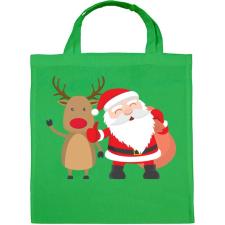 PRINTFASHION Karácsony - Vászontáska - Zöld kézitáska és bőrönd