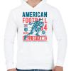 PRINTFASHION Amerikai foci - Férfi kapucnis pulóver - Fehér