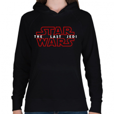 PRINTFASHION STAR WARS THE LAST JEDI - Női kapucnis pulóver - Fekete