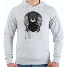 PRINTFASHION Hegyi ember - Férfi kapucnis pulóver - Sport szürke