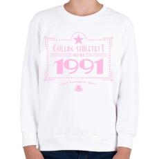 PRINTFASHION csillag-1991-pink - Gyerek pulóver - Fehér