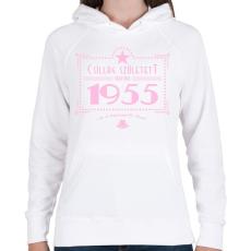PRINTFASHION csillag-1955-pink - Női kapucnis pulóver - Fehér