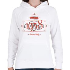 PRINTFASHION since-1938-red-black - Női kapucnis pulóver - Fehér
