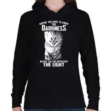 PRINTFASHION The darkness - Női kapucnis pulóver - Fekete