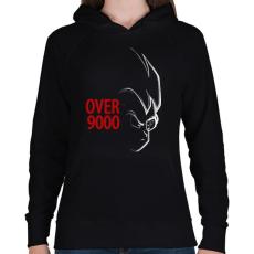PRINTFASHION 9000 szint felett - Női kapucnis pulóver - Fekete