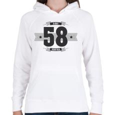 PRINTFASHION b-day-58-dark-lightgrey - Női kapucnis pulóver - Fehér