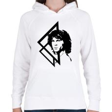PRINTFASHION Jim Morrison - Női kapucnis pulóver - Fehér