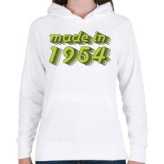 PRINTFASHION made-in-1954-green-grey - Női kapucnis pulóver - Fehér