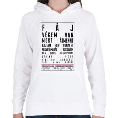 PRINTFASHION F Á J - Női kapucnis pulóver - Fehér