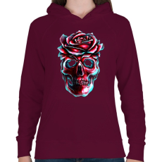 PRINTFASHION Heartless - Női kapucnis pulóver - Bordó