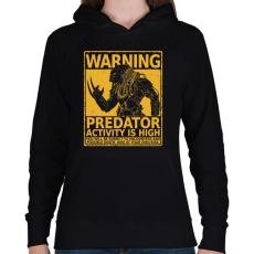 PRINTFASHION Vadász szezon - Női kapucnis pulóver - Fekete