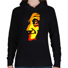 PRINTFASHION Face - Női kapucnis pulóver - Fekete