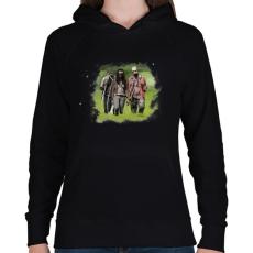 PRINTFASHION Michonne - Női kapucnis pulóver - Fekete