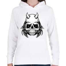 PRINTFASHION Ragadozó - Női kapucnis pulóver - Fehér