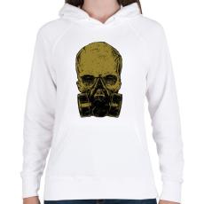 PRINTFASHION Méreg - Női kapucnis pulóver - Fehér