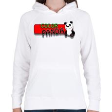 PRINTFASHION Color panda android game - Női kapucnis pulóver - Fehér