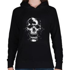 PRINTFASHION Scream - Női kapucnis pulóver - Fekete