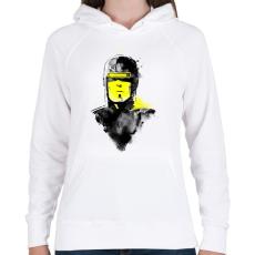 PRINTFASHION Vhs man - Női kapucnis pulóver - Fehér