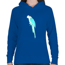 PRINTFASHION Summer parrot - Női kapucnis pulóver - Királykék