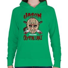 PRINTFASHION Üdvözöllek a kristály tónál - Női kapucnis pulóver - Zöld