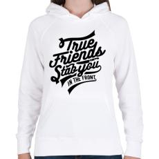 PRINTFASHION Igaz barát - Női kapucnis pulóver - Fehér