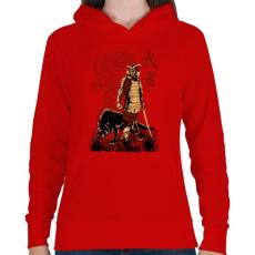 PRINTFASHION Harcos - Női kapucnis pulóver - Piros