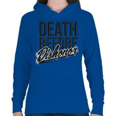 PRINTFASHION Halál mint a becstelenség - Női kapucnis pulóver - Királykék