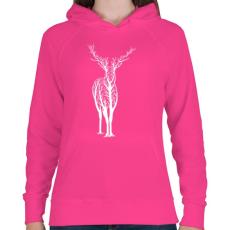 PRINTFASHION Élővilág - Női kapucnis pulóver - Fukszia