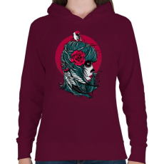PRINTFASHION Halálmadár - Női kapucnis pulóver - Bordó