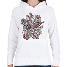 PRINTFASHION Madár - Női kapucnis pulóver - Fehér
