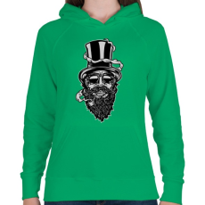 PRINTFASHION Szakáll - Női kapucnis pulóver - Zöld