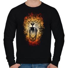 PRINTFASHION Inferno - Férfi pulóver - Fekete