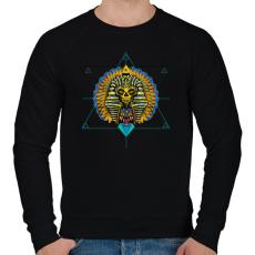 PRINTFASHION Egyiptom - Férfi pulóver - Fekete