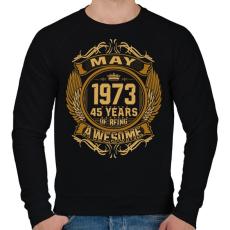 PRINTFASHION 1973 Awesome - Férfi pulóver - Fekete