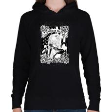PRINTFASHION Amerikai álom - Női kapucnis pulóver - Fekete