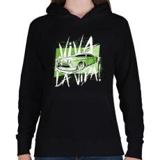 PRINTFASHION Amcsi autó - Női kapucnis pulóver - Fekete
