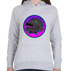 PRINTFASHION PUBG sisak - Női kapucnis pulóver - Sport szürke