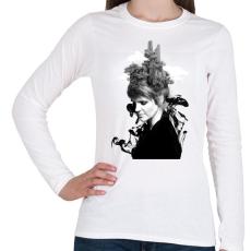 PRINTFASHION Melting beauty - Női hosszú ujjú póló - Fehér