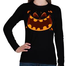 PRINTFASHION halloween head - Női hosszú ujjú póló - Fekete